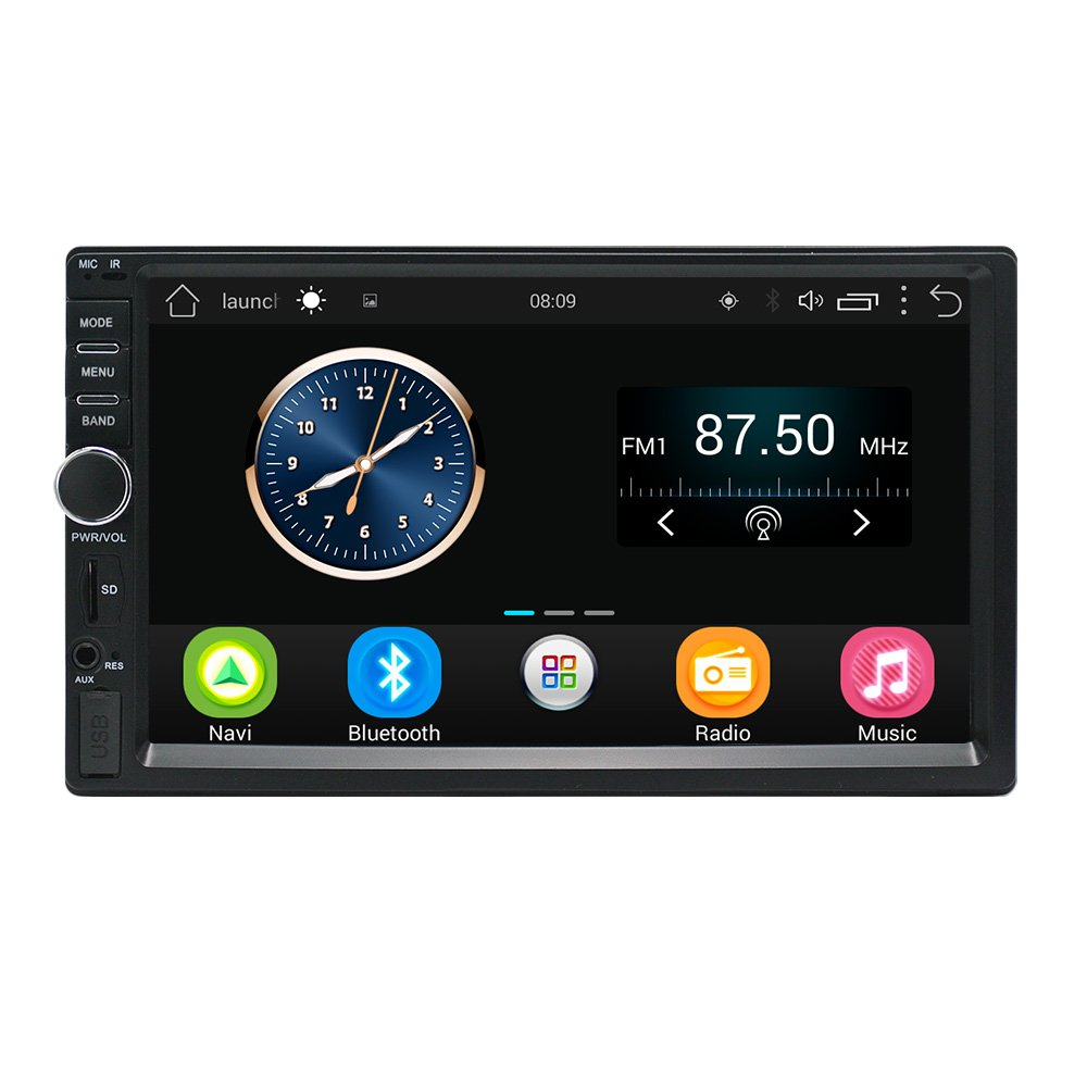 Lexxson Android Car Radio Stereo 7 inch Capacitive Touch Screen High Definition 1024x600 GPS Navigation Bluetooth USB SD Player 1G DDR3 + 16G NAND Memory Flash CT0011