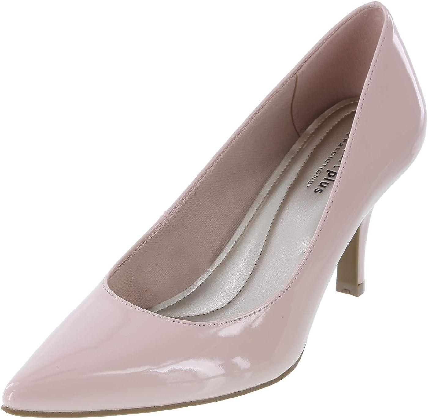Predictions Comfort Plus Women S Blush Patent Janine Pointy Toe Pump 6 5 Regular Amazon Ca Shoes Handbags