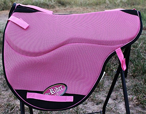 Horse English Western Endurance Treeless NonSlip Neoprene SADDLE Pad Pink 122F30