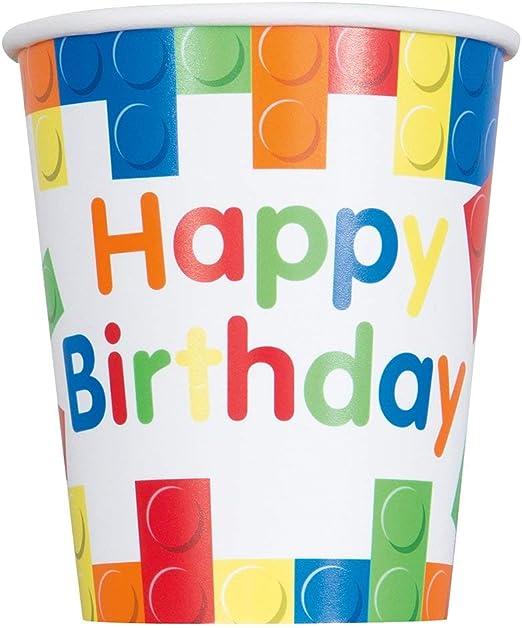 Amazon.com: Bloques de construcción para cumpleaños., Vasos ...