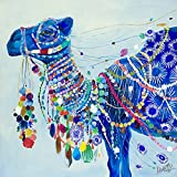DIY Adorned Camel Diamond Painting, Square Full Drill Diamond Painting Kit for Adults, 5D Diamond Painting, 5D Diamond Painting kit, for Home Wall Decor, Paint by Number Kits (11.8X11.8 inch)