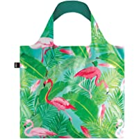 LOQI Artist Wild Flamingos Bag Borsa da spiaggia, 50 cm, 20 liters, Multicolore (Multicolour)