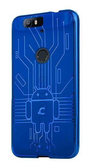 sneakers for cheap 4d186 44506 Huawei Nexus 6P Case, Cruzerlite Bugdroid Circuit Case Compatible for  Huawei Nexus 6P - Retail Packaging - Blue