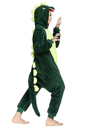 Duraplast Adult Dinosaur Costume Onesies Pajamas Halloween Dragon Outfit (GreenS)  sc 1 st  Amazon.com & Amazon.com: Duraplast Adult Dinosaur Costume Onesies Pajamas ...