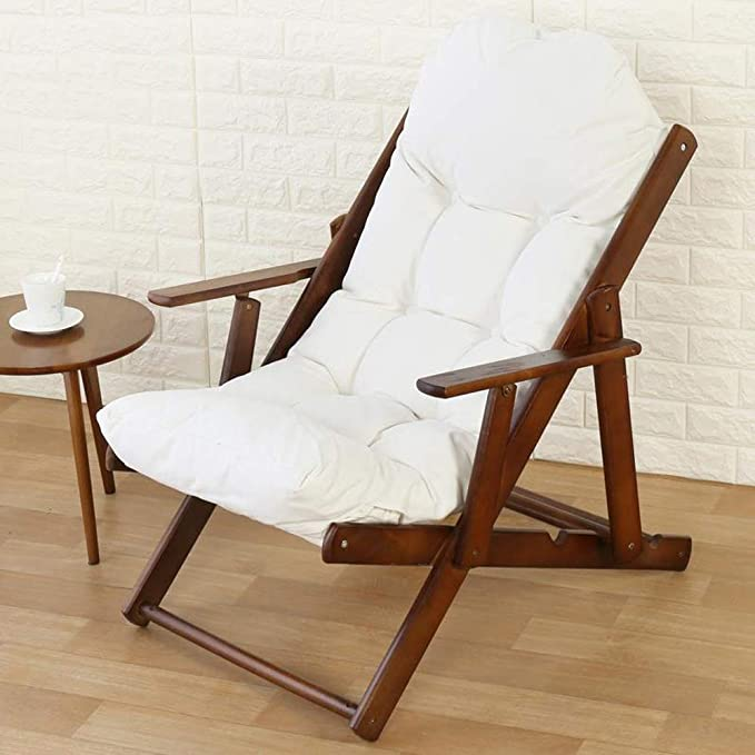 Amazon.com: Silla reclinable de madera maciza silla plegable ...