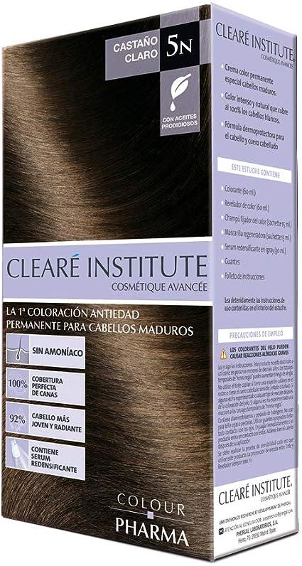 Colour Pharma|Tinte Sin PPD ni Amonicaco | Coloración Antiedad | 100% Cobertura de Canas Rebeldes, Con Serum Redensificante | 5N. Castaño Claro | ...