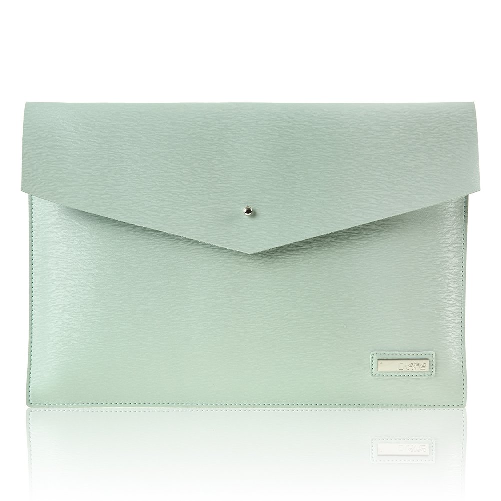 CanvasArtisan 15 Inch Tablet Sleeve,Mint Green Leather Tablet Protective Shell, Notebook Computer Bag Case Cover