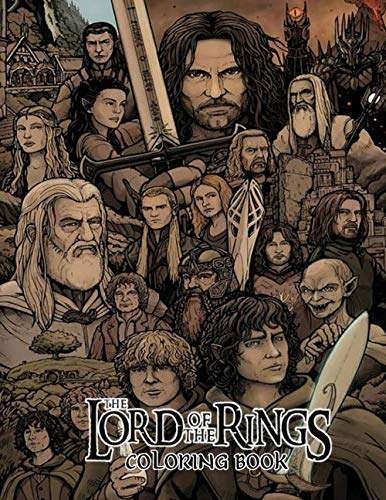 The Lord Of The Rings Coloring Book Color Wonder Lotr Coloring Book Pages Markers Mess Free Coloring Wonderful Gift For Adults Fan Lexi Hana 9781705631270 Amazon Com Books