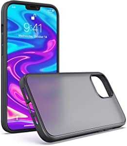 CASEJOLY Compatible with iPhone 12 Pro Max Case 6.7 Inch [Military Grade Drop Protection] Translucent Matte Hard PC Back & TPU Bumper Protective Case for iPhone 12 Pro Max (Matte)