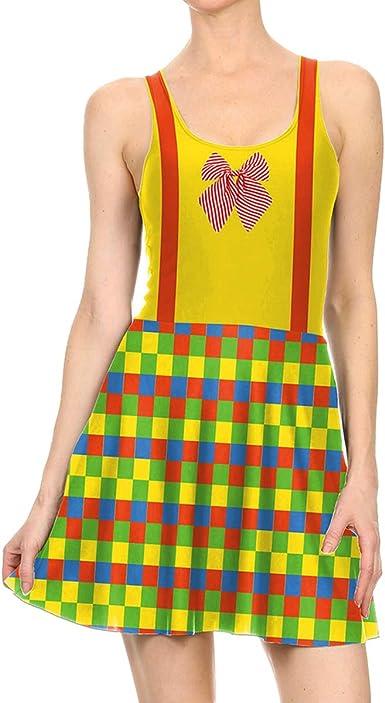 Dawwoti Middy de Las Mujeres de la Falda Vestido de Payaso para ...