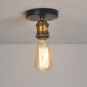 Splink Lustre à 6 Têtes Douilles dampoule E27 Lampe Suspension Style  Industriel Luminaire DIY Edison Ampoule d479fbe16739
