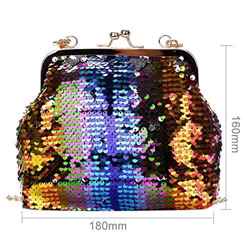 Femme Fille Glitter Paillettes Sling Sacs Brillante Aprigy Bag Marque bandoulière bandoulière à Messenger chaîne SOIRÉE Mode Femmes qpwYPB