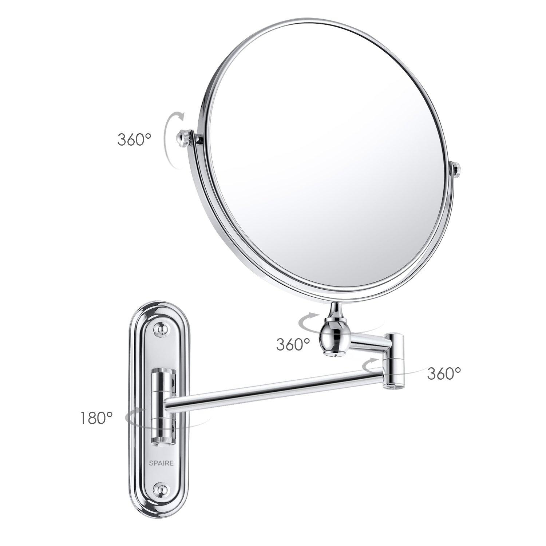Extendable Mirror Bathroom Amazoncom Spaire Bathroom Mirror 7x Magnification Normal Double