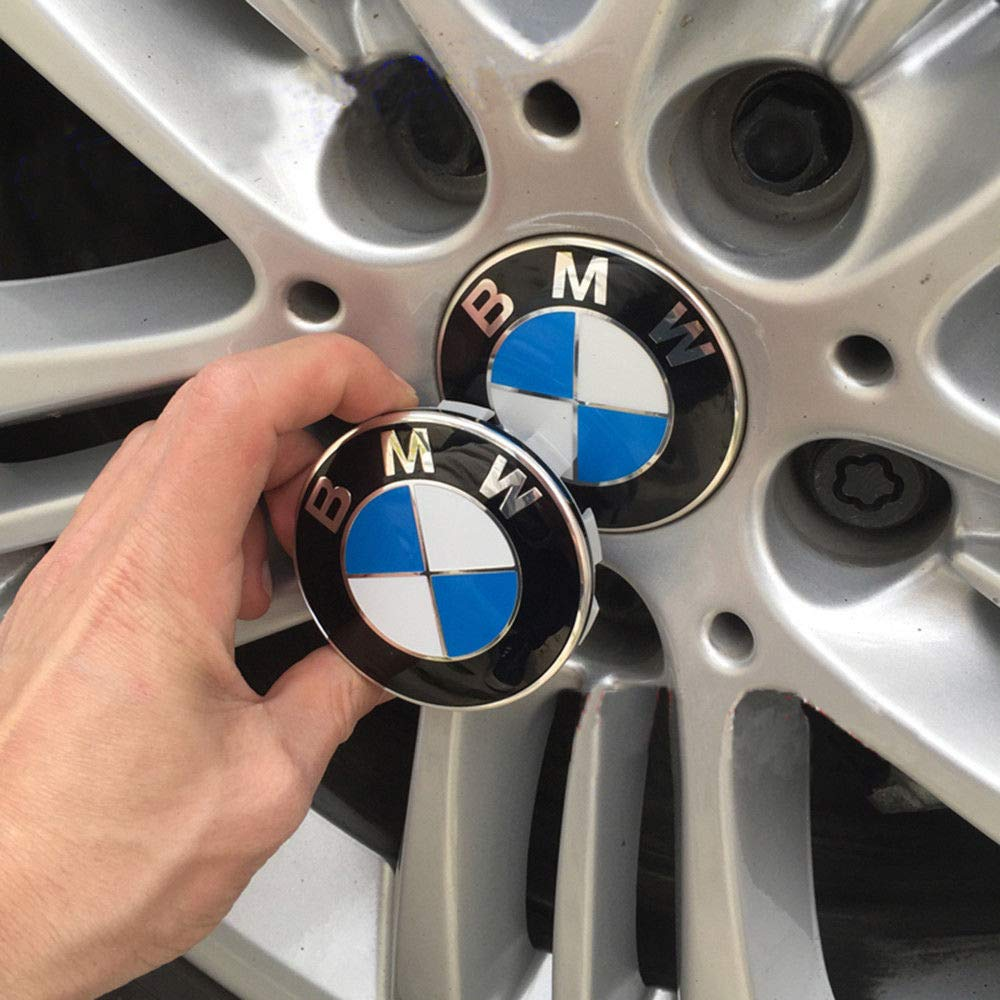 68mm BMW Rim Center Hub Caps for All Models with BMW Wheels Logo Blue /& White Color Enseng Set of 4 BMW Wheel Center Caps Emblem
