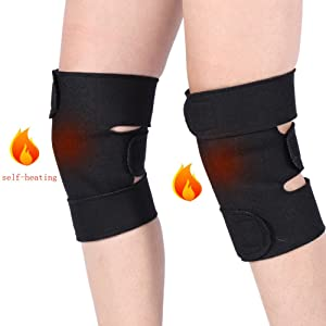 1 Pair Tourmaline Self-heating Knee Braces,Acogedor Magnetic Therapy Knee Sleeve,Knee Support for Arthritis Pain Knee massager