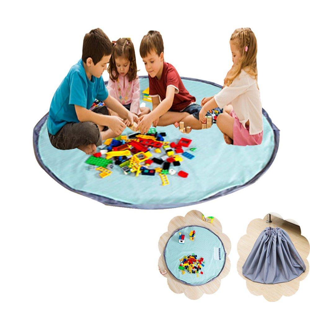 xhforever Kinder Aufräumsack Spieldecke Spielzeug Speicher Tasche Aufbewahrung Beutel Spielzeugaufbewahrung 150cm