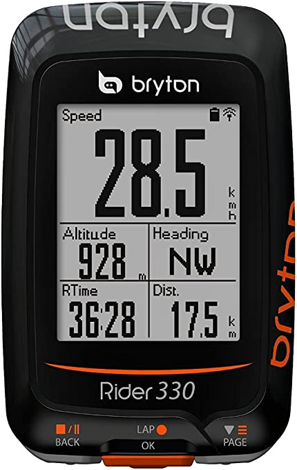 Bryton Rider 330T GPS Cycling Computer w// Cadence /& Heart Rate