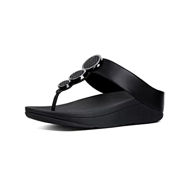 fdff23b98 FitFlop Women s Halo Toe Thong Sandals Black 5