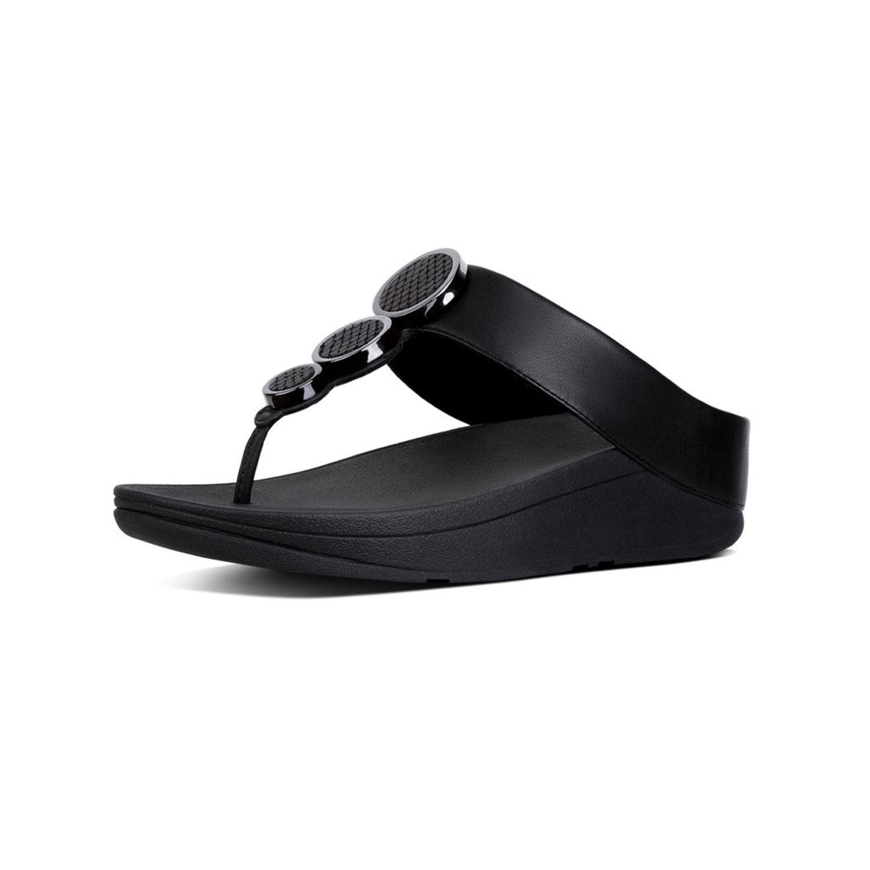 fbda23fe89c1 Galleon - FitFlop Women s Halo Toe Thong Sandals Black 7