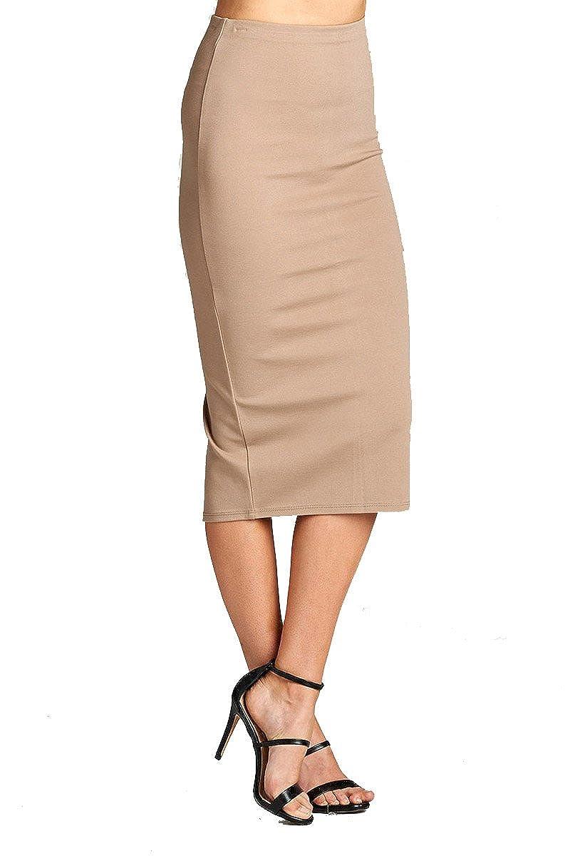 2729mocha YourStyle Stretch Bodycon Mini Pencil Ponte Skirt