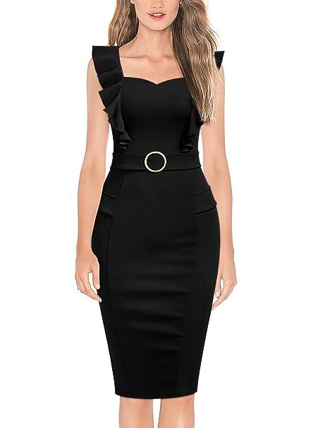 Amazon.com: Knitee - Vestido para mujer, con hebilla de ...