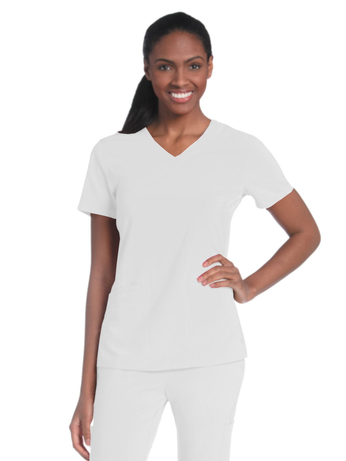 Urbane Performance 9015 Motivate V-Neck Top White L