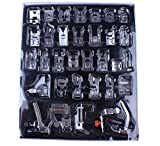 New Universal 32pcs Domestic Sewing Machine Presser Foot Feet Braiding Blind Stitch Darnign Foot Kit For Brother Singer Janom