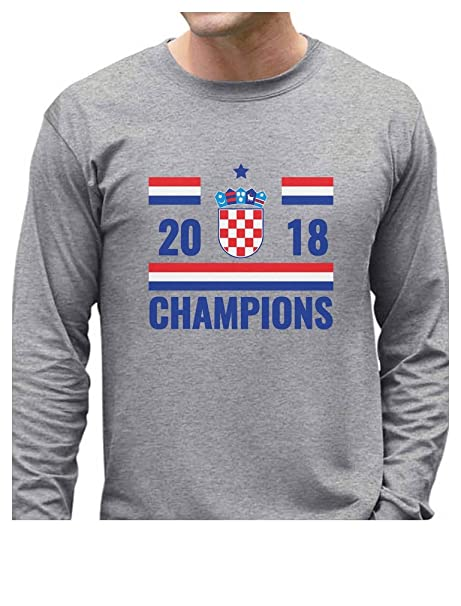 20895538a Amazon.com  Tstars - 2018 Champions Croatia National Soccer Team Fans Long  Sleeve T-Shirt  Clothing