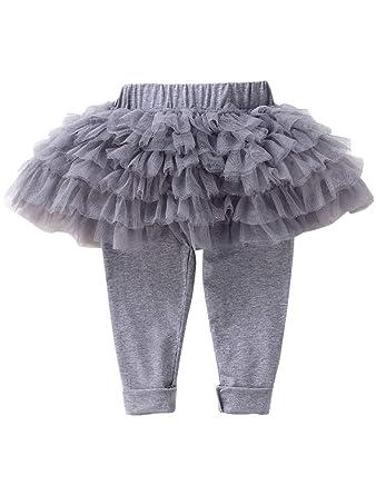 90fc79aa9f73 ARAUS Pantaloni da Bambina con Tutu Gonna Invernale 0-7 Anni  Amazon.it   Abbigliamento