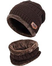 VBIGER Cappello Uomo invernale Berretto Uomo in Maglia con sciarpa eb4302001069