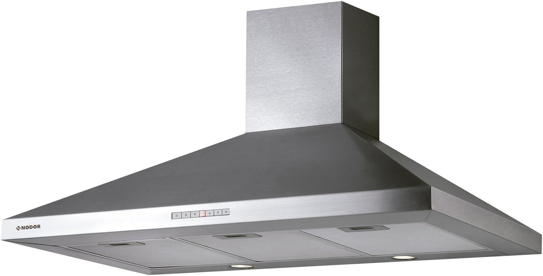Nodor SCALA 900 - Campana (Canalizado/Recirculación, 740 m³/h, 42 Db, Montado en pared, Halógeno, Acero inoxidable): 164.15: Amazon.es: Grandes electrodomésticos