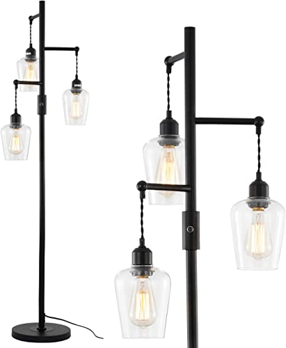 Airposta 3 Lights Industrial Floor Lamp