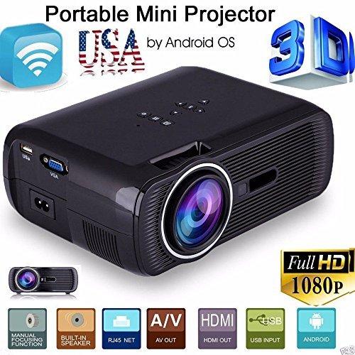 5000 Lumens Full HD 1080P LED LCD 3D PC AV VGA HDMI TV Home Theater Projector MY