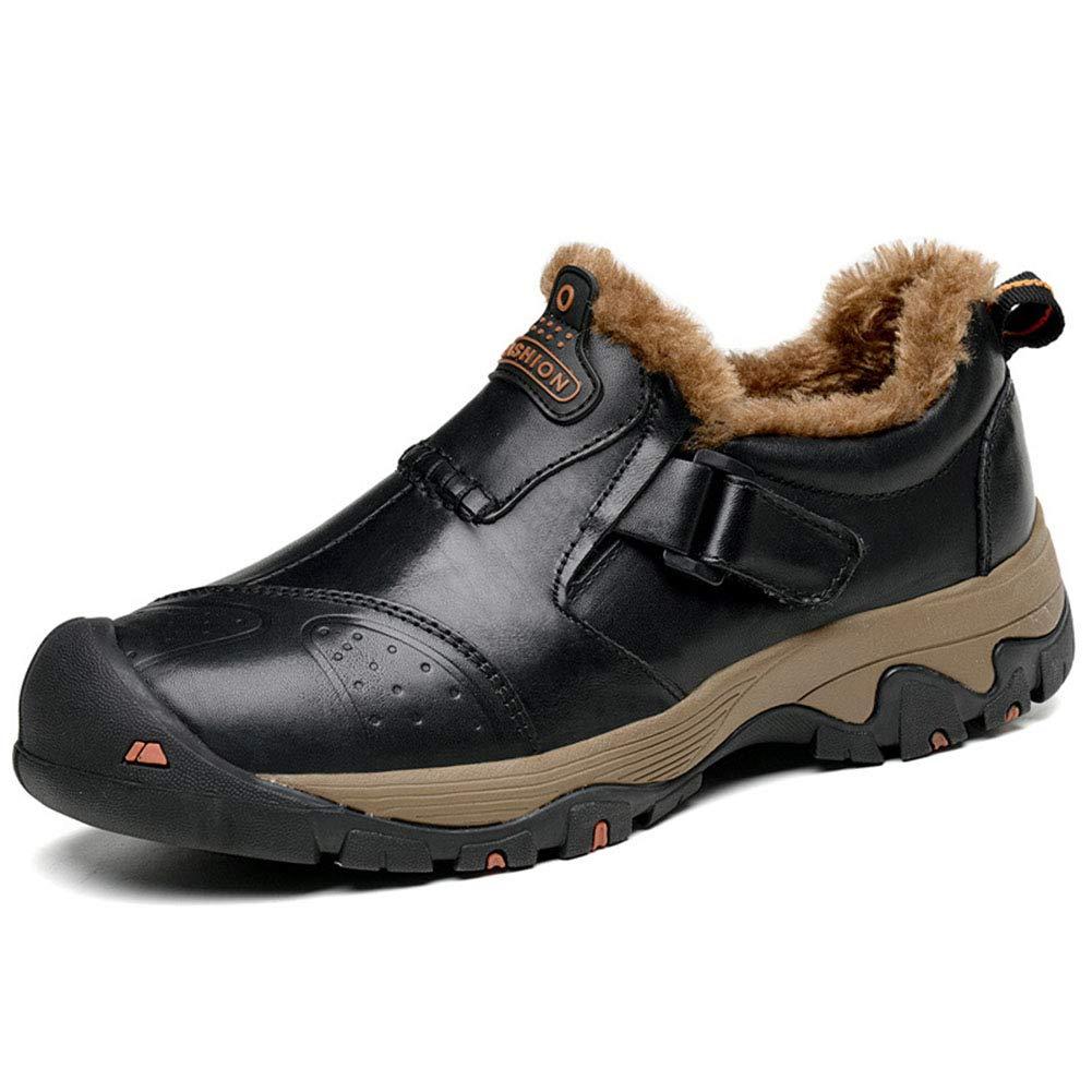 Die Männer, die Schuhe lederne warme niedrige gehende Schuhe wandern, verdicken Wasserdichte beiläufige Schuhe Herbst und Winter großes Feld im Freien