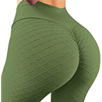 A AGROSTE Women's Butt Lift Anti Cellulite Sexy Leggings High Waist Yoga Pants Workout Tummy Control Textured Booty…