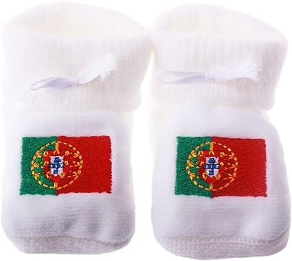 Chaussons b/éb/é brod/és drapeau Espagne Happy baby Blanc 0//3mois
