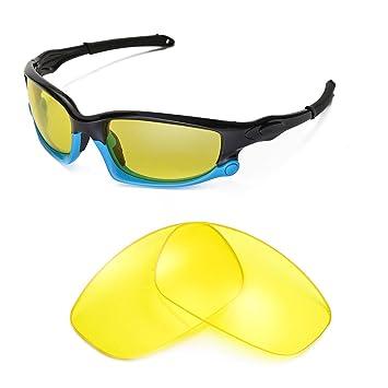 Walleva Wechselgläser Und Earsocks für Oakley Split Jacket Sonnenbrille - Mehrfache Optionen (Smaragd Polarisierte Linsen + Grüner Gummi) 6re7b