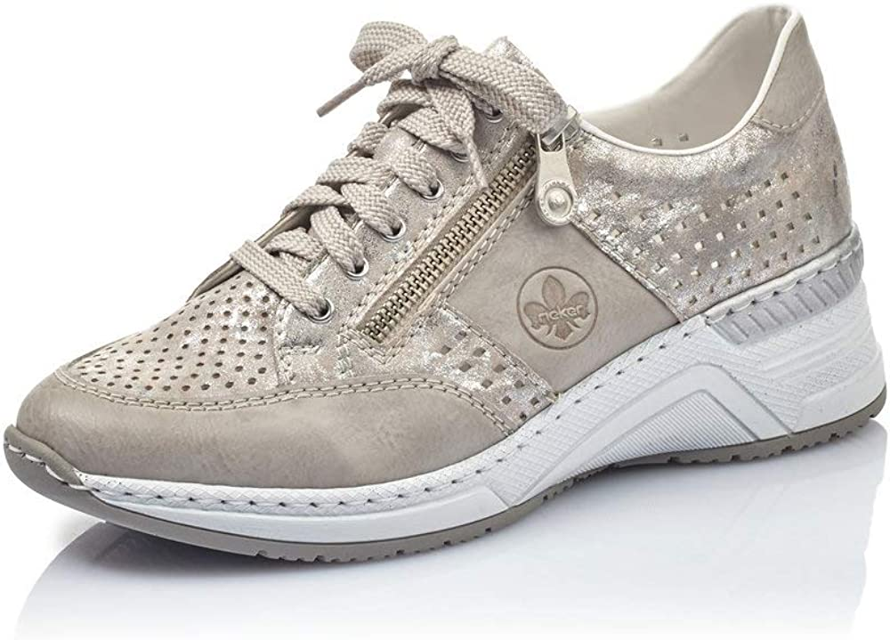 Rieker N4327 80 Women Sneaker Metallic EU 37 US 5.5