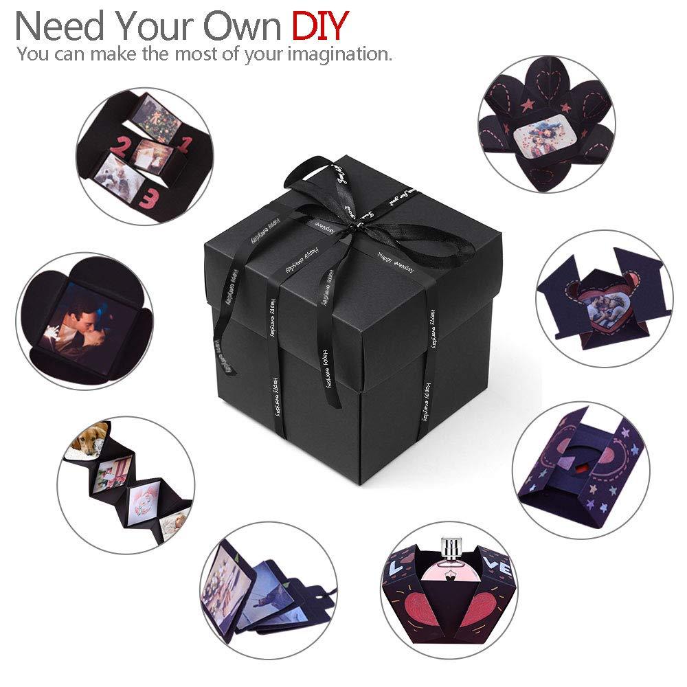 DIY Scrapbook Photo Album Creative Esplosione Scatola portafoto QLG/&S Album Esplosione Box sty1 Kit di Accessori Fai da Te per Compleanno Regalo San Valentino