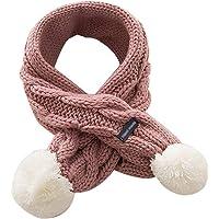 Xuxuou 1 Pieza de Invierno De Bufandas con Bola Caliente de Bufanda para Bebé Bufanda de Lana Tejida a Mano size 68cm*8…