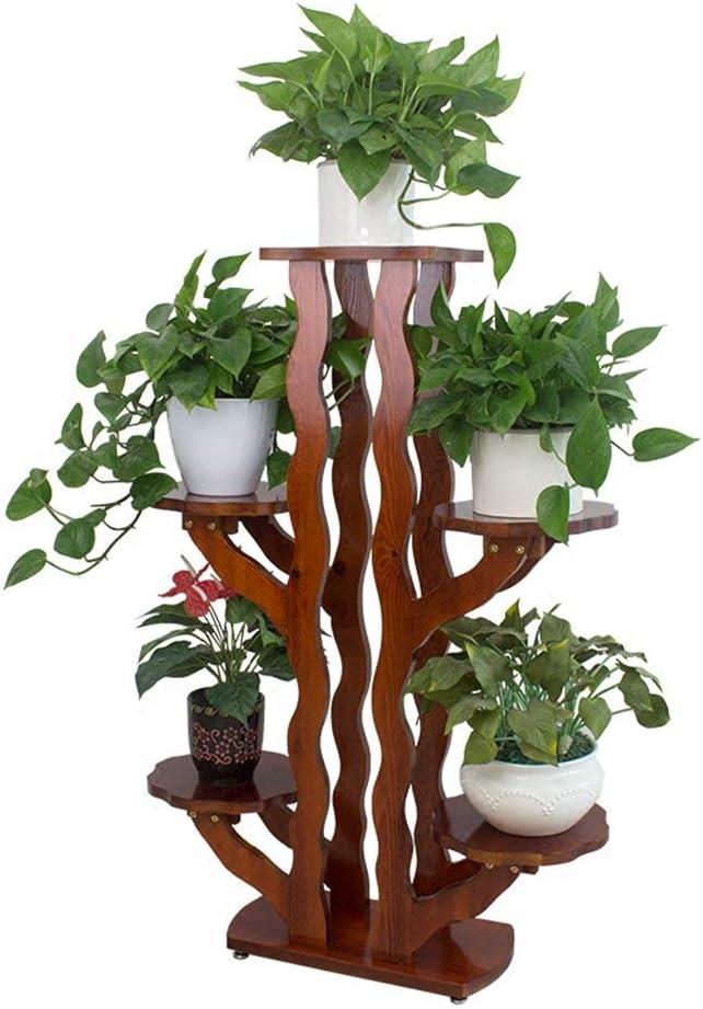 ACZZ Balcón de madera Maceta Soporte Plantador de pie Escalera Sala de estar Estante para plantas en maceta Estante de exhibición de hierbas multicapa 48 Times; 24 Times; 116Cm: Amazon.es: Bricolaje y