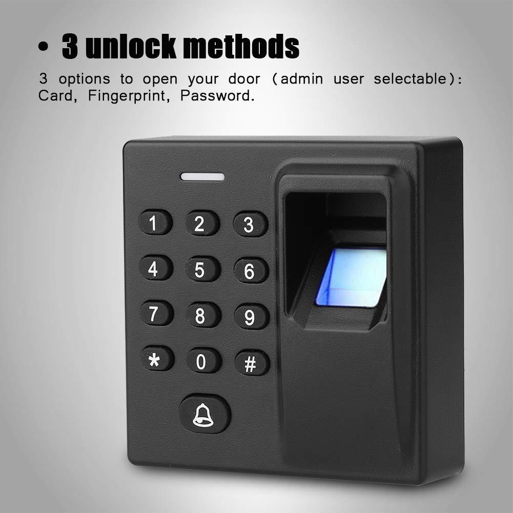 Reconocimiento de Huellas Dactilares Tarjeta RFID Contraluz Contraluz Teclado Sistema de Control de Acceso Negro Sistema de Control de Acceso