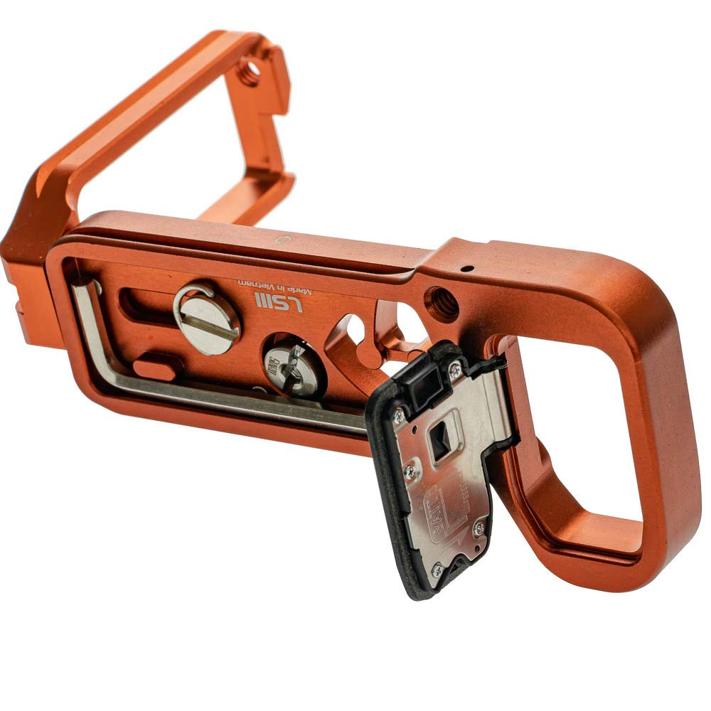 2019 Version Stabil LSIII - L Plate Quick Release Plate for Sony A7RIII; A7III & A9 : Orange Color by Stabil (Image #3)