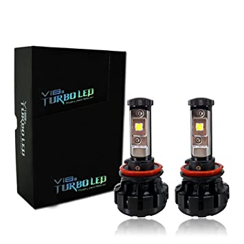V18 CREE LED Faros Bombillas - H11/H8 luces - fácil de instalar, 40 W 4,800lm 6000 K puro blanco 2 años de garantía: Amazon.es: Coche y moto