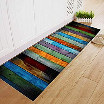 Vkospy Salle A Manger Accueil Entree Tapis Rectangle Multicolor