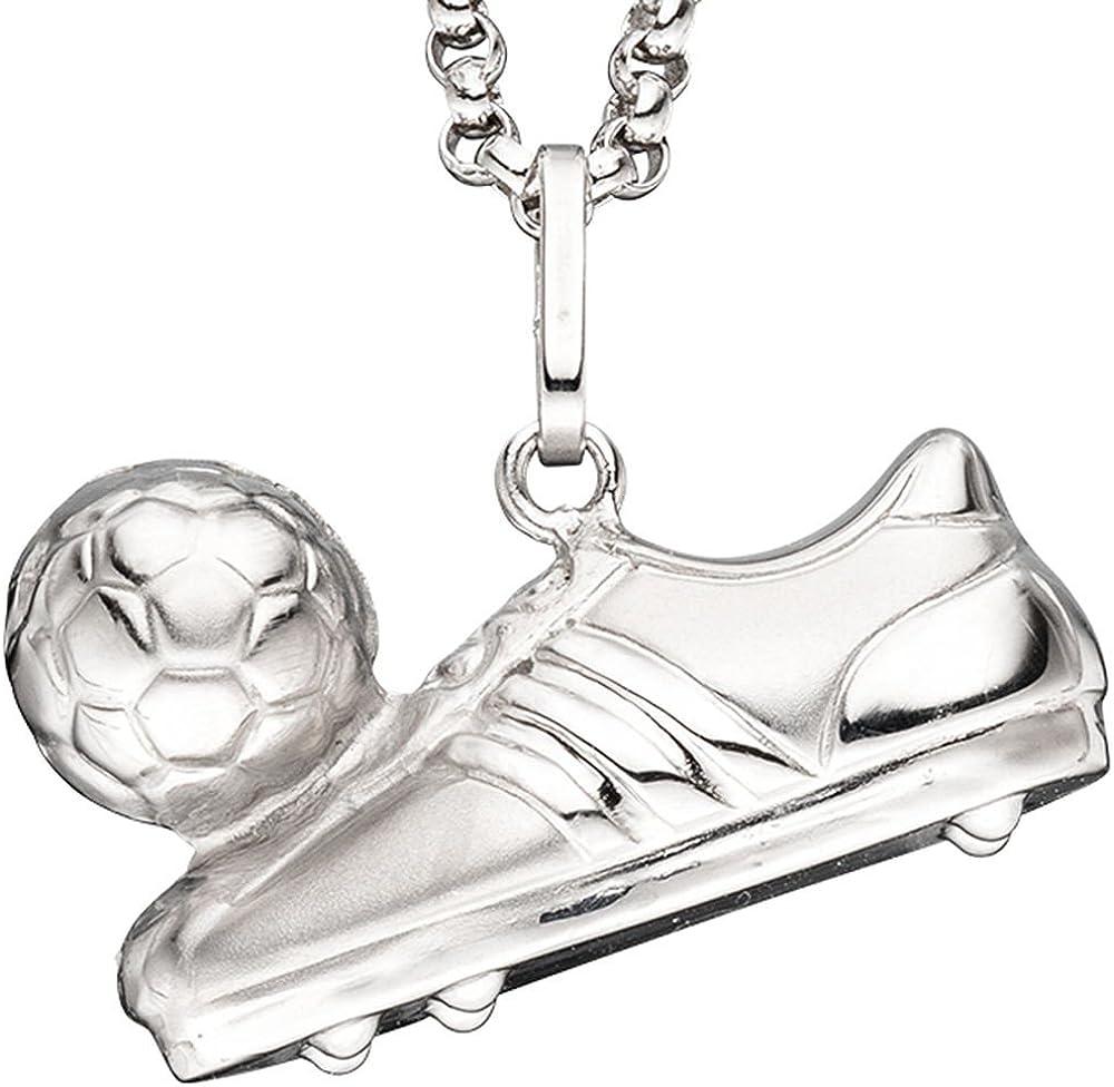 Colgante de bota de fútbol con pelota 925 colgante de plata ...