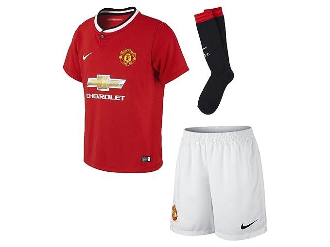 size 40 7f98f 498d6 Amazon.com: Nike 2014-15 Man Utd Home Little Boys Mini Kit ...