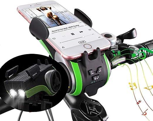 Uppel Bluetooth Lautsprecher Tragbare Lautsprecher Outdoor Lautsprecher V4 0 4400mah Leistung Bank Lichterkette Glocke Handyhalter Freisprechen Für Anrufe Support Tf Karte Für Musik Spielen 10 In 1 Audio Hifi