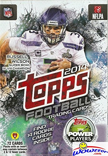 2014 Topps NFL Football Trading Cards with 72 Cards including 14 Rookie Cards from Topps
