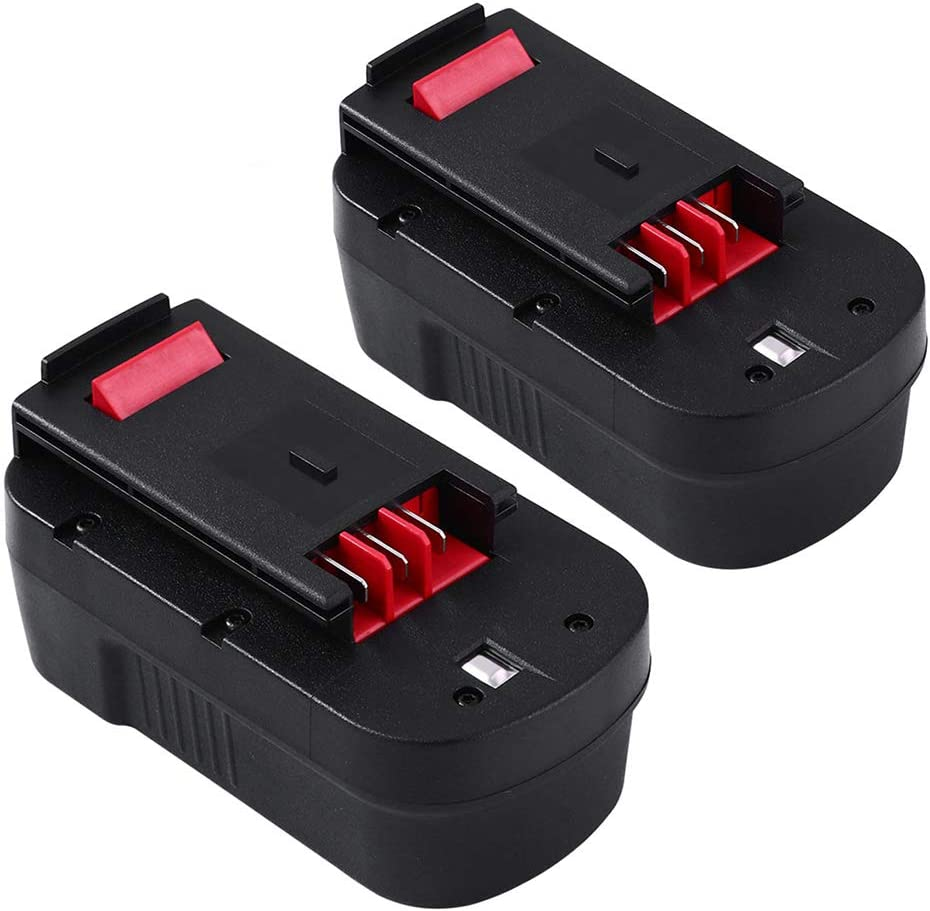 Topbatt 18Volt 3.0Ah Replacement Battery for Black and Decker 18V HPB18 HPB18-OPE Battery 244760-00 A1718 Firestorm FS180BX 2Pack